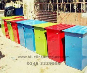 Fiberglass Dustbins Pots & Planters (3)