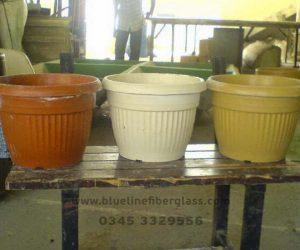 Fiberglass Dustbins Pots & Planters (8)
