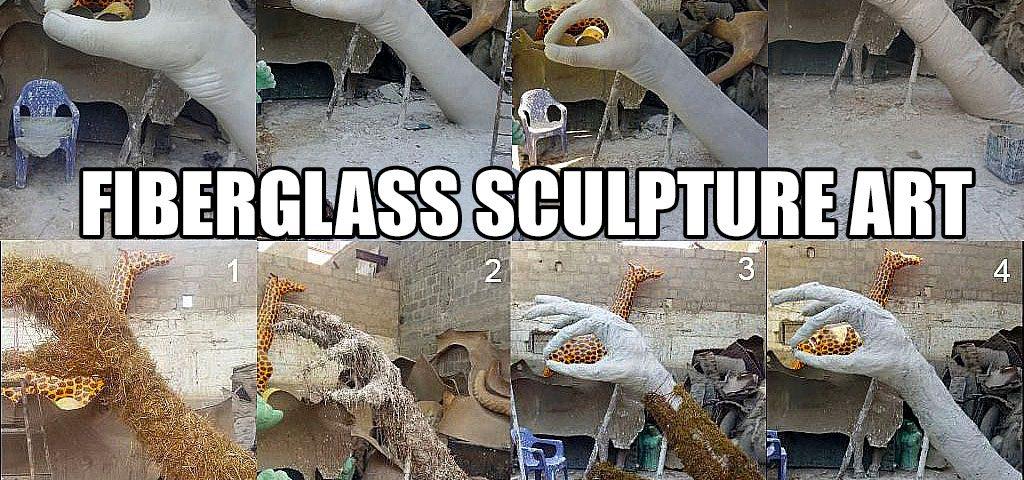 Life Size Animals Sculpture Statue Monument in Pakistan Karachi Lahore Islamabad Blue Line Fiberglass
