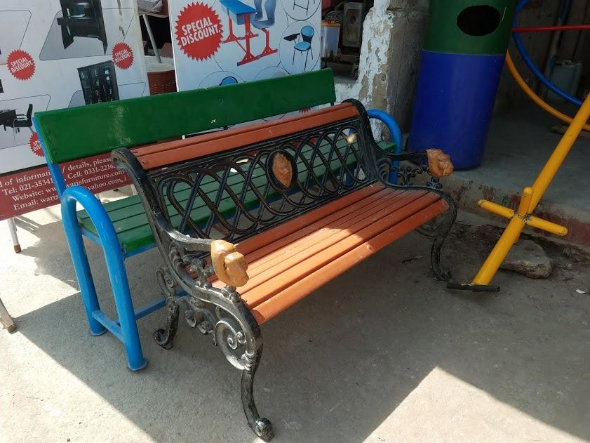 Fiberglass Garden Bench : Fiberglass karachi pakistan blue line photo