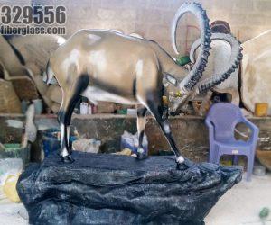Markhor alpine ibex statute fiberglass sculptures monuments karachi pakistan