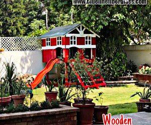 Wooden Tree House - Blue Line Fiberglass - Karachi Pakistan