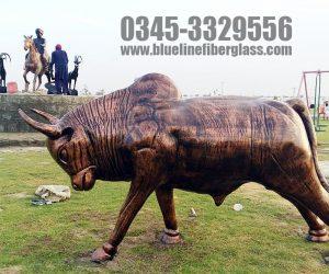 bull fiberglass statue sculptures monuments karachi pakistan