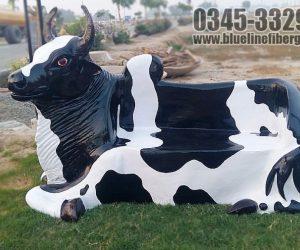 cow bench fiberglass statue sculptures monuments karachi pakistan