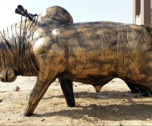 bull - Fiberglass animals statues sculptures monuments karachi pakistan