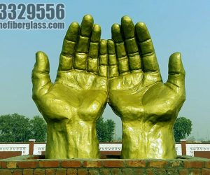 fiberglass dua hand statue sculptures monuments karachi pakistan