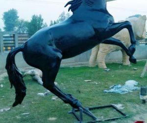 horse statute fiberglass sculptures monuments karachi pakistan