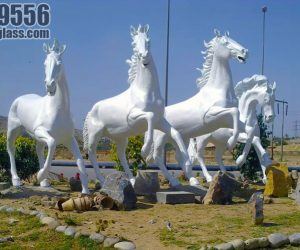 horses statute fiberglass sculptures monuments karachi pakistan