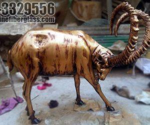 ibex - markhor statute fiberglass sculptures monuments karachi pakistan