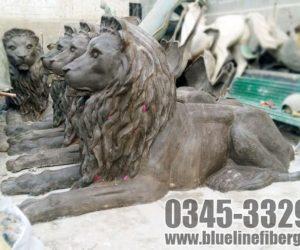lion statute fiberglass sculptures monuments karachi pakistan