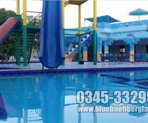 swimming pool fiberglass slide