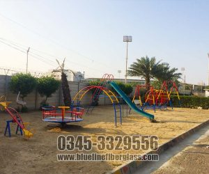 swing slide seasaw merry go round KIDS MULTI PLAY UNIT Wood Garden