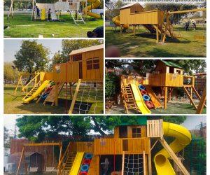 kids playground equipmet - Jungle Gym - Blue Line Fiberglass