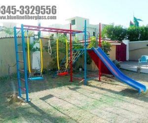 multiplay unit 5 - swing slide - kids playground equipment