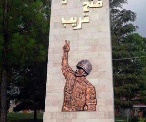 Army victory sign fiberglass statue sculptures monuments karachi pakistan