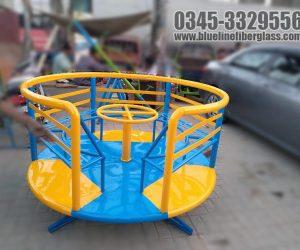 Kids Playground Equipment - MERRY GO ROUND - Blue Line Fiberglass Karachi Pakistan