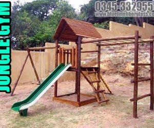 jungle gym wooden - Blue Line Fiberglass Karachi Pakistan