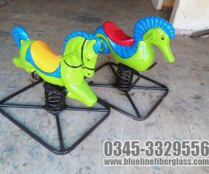 spring horse swing Blue Line Fiberglass karachi Pakistan