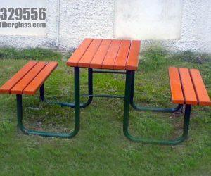 wooden bench - Blue Line Fiberglass Karachi Pakistan