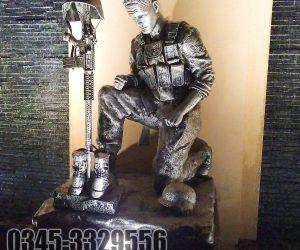Army Soldier  Statue Monument fiberglass sculptures karachi pakistan