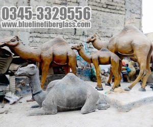 Camel  fiberglass sculptures statue Monument karachi pakistan