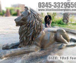Lion statue Monument fiberglass sculptures karachi pakistan