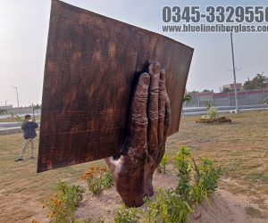 Pakistan Naval Academy Book Monument fiberglass statue sculptures karachi pakistan 2