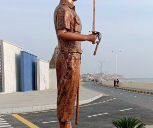 Pakistan Naval Academy Cadet Monument fiberglass statue sculptures karachi pakistan 62