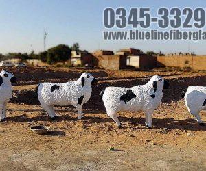 shepherd with lambs Fiberglass animals statues sculptures monuments karachi pakistan 2