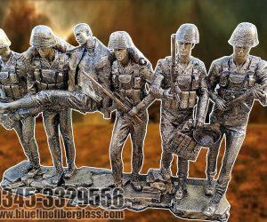 Army Soldier Rescue Monument fiberglass sculptures karachi pakistan