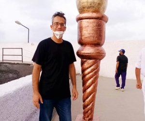 Mashal Torch fiberglass statue sculptures monuments karachi pakistan