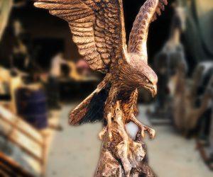 Eagle Sculpture - Blue Line Fiberglass animal statues sculptures monuments karachi Lahore Pakistan