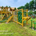 Gorilla Play Gym With Zipline Adventure ride Blue Line Fiberglass Karachi Pakistan