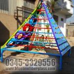 Kids Outdoor MS Play Gym Blue Line Fiberglass Karachi Pakistan