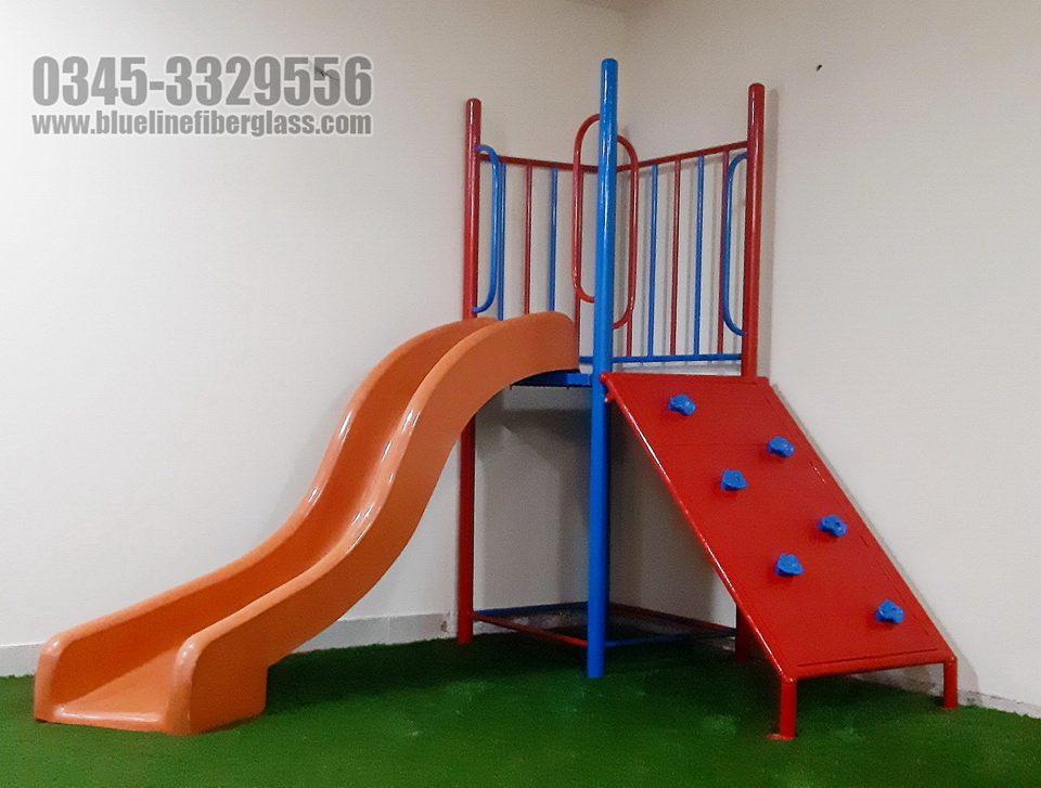 Kids Slide and Swing for Sale in Karachi Blue Line Fiberglass
