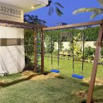 Installing Wooden Swings & Monkey Bar to a Happy Customer | Blue Line Fiberglass Karachi Pakistan