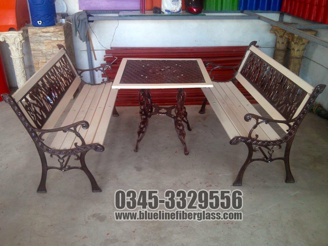 Garden Bench   Outdoor Furniture   Garden Furniture   Available Designs   Blue Line Fiberglass Karachi Pakistan