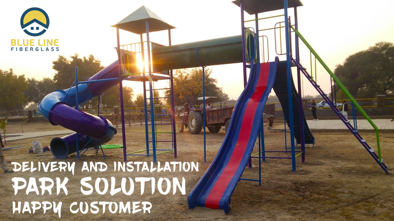 We recently deliver and install Garden Play equipment along with Garden Benches and Dustbins for a Park in Sindh Pakistan.