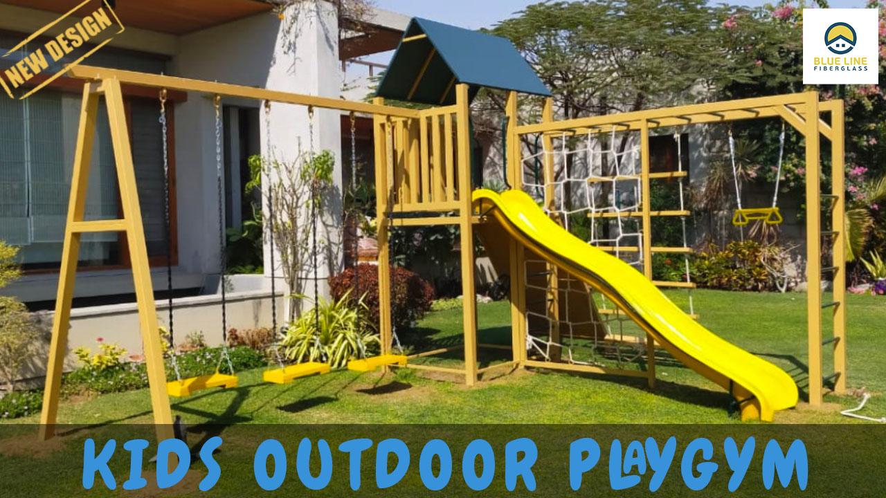 Kids outdoor Play Gym | New Design | Blue Line Fiberglass Karachi Pakistan