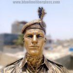 Pakistan Military Soldier Sculpture Statue Blue Line Fiberglass Karachi Pakistan 4